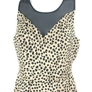 BCBG black and ivory dot dress